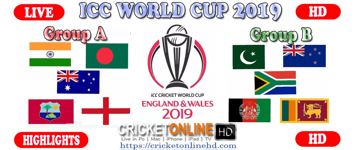 Live Online Cricket World Cup 2019 Streaming