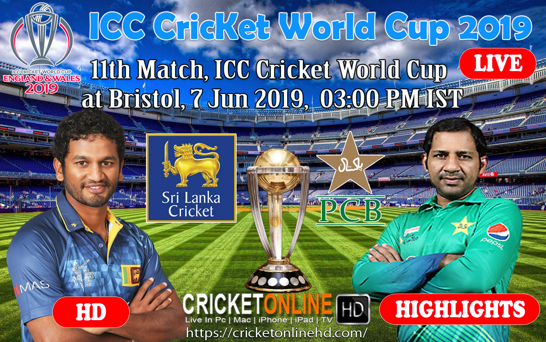 Pakistan Vs Sri Lanka 11th Match, ICC Cricket World Cup 2019 at Bristol, Jun 7 2019