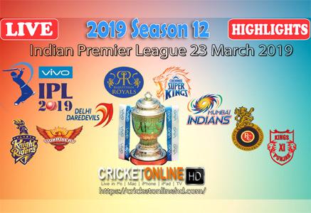 Indian Premier League 2019 Live Hd
